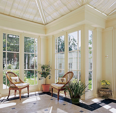 Floor Grilles and roof blinds combined can help to make a conservatory useable all year round.