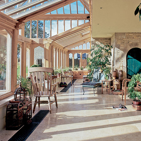 A Traditional Timber Conservatory With Floor Grilles