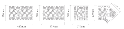Harston Floor Grill Dimensions