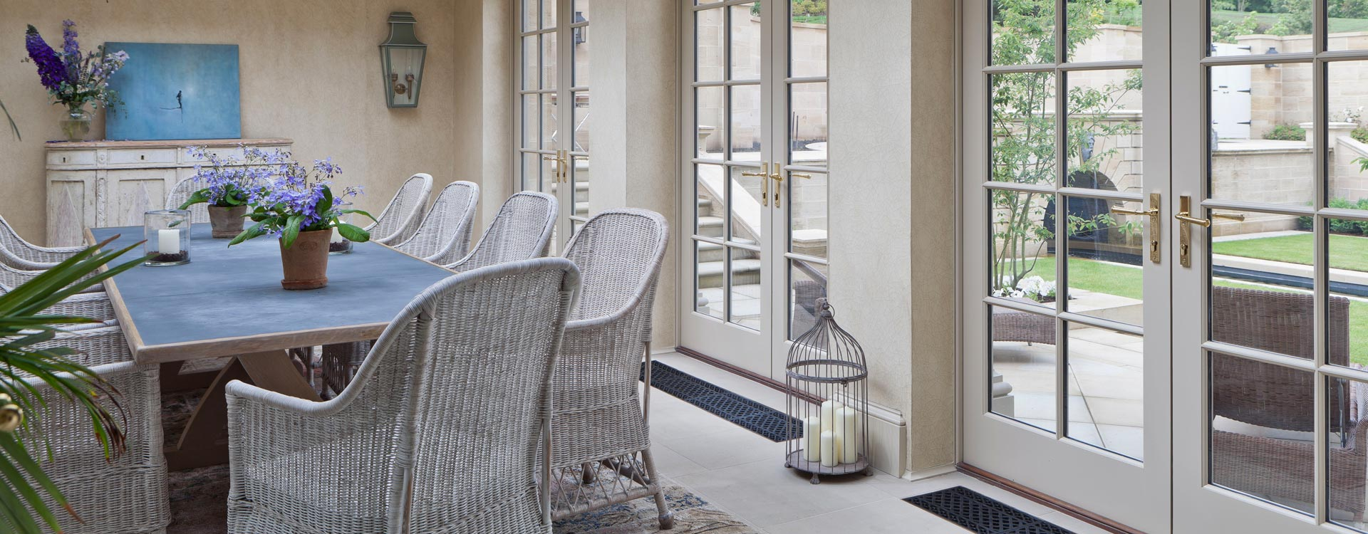 Floor Grilles in an orangery